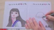卡通头像 Q版教程 转手绘教程