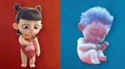 哪吒之魔童降世:小哪吒出生是顆球,長到3歲就秀出了腹肌,太帥