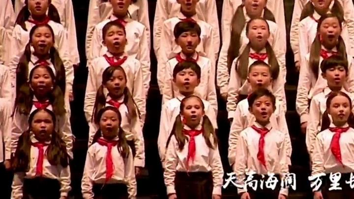 張杰演唱會 50位小朋友上臺共同合唱《少年中國說》少年強則國強