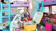 叶罗丽:冰公主脚踩蓝色高跟鞋,拎着行李箱去学校寝室,室友惊呆
