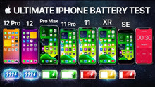 【4K生肉】iPhone 12 vs 12 Pro vs 11 Pro Max vs 11 Pro vs 11 vs XR vs SE | 电池续航测试